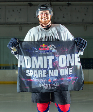 Josh Gabardi, a life-long hockey player, takes it to another extreme by competing in this year's Ice Cross Downhill World Championship 2014 in St. Paul, Minn.