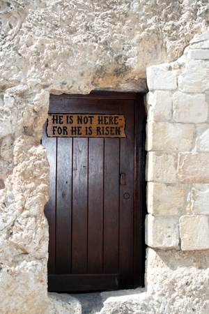 The empty tomb is a reminder of a risen, living Saviour.
