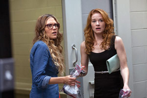 Izzy and Allyson (Andrea Logan White and Sarah Drew) are in for many surprises on their moms' night out.