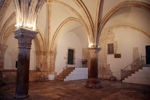 The upper room, also known as the Cenacle, is in the Franciscan Church of the Coenaculum on Mount Zion and is believed by some to be the official site of the Last Supper. The Gospels do not mention the exact location of the Cenacle. However, the tradition, which dates to the times of early Christianity, puts the location on Mount Zion just outside of the Zion Gate. Photo by T. Keener.
