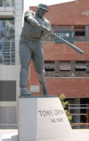 Statue of Tony Gwynn at Petco Park. Photo by jspatchwork, Wikipedia.
