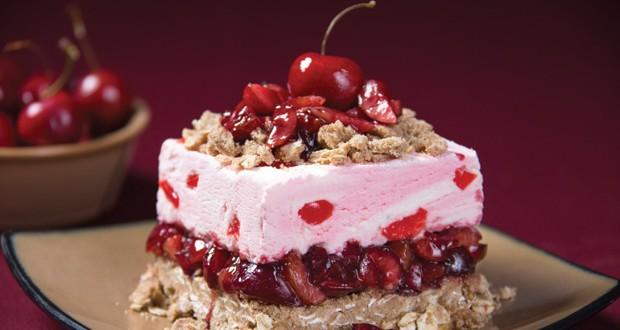 Cherry Vanilla Crumble Squares