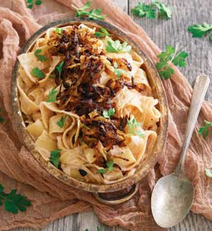 Creamy Tomato Ranch Pappardelle with Caramelized Onions